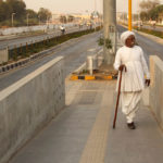 Tribal elder using the Janmarg BRT