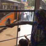 Passengers ride Ahmedabad, India's BRT. Photo by EMBARQ.