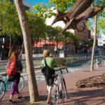 Two cyclists on Market Street in San Francisco, California. Photo by Sergio Ruiz/Flickr.