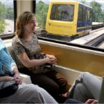 Personal rapid transit could help cities reduce car use and support sustainable transport. Photo via Treehugger.com.