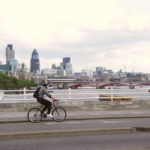 Would you be happier commuting on a bike path floating on London's Thames River? Photo by Chris R/Flickr.