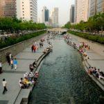 The Cheonggye Stream in Seoul